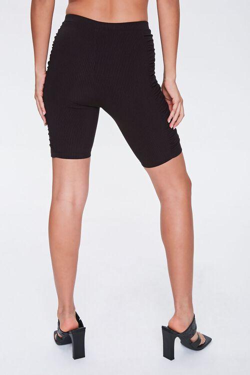 BLACK Ruched Biker Shorts, image 4