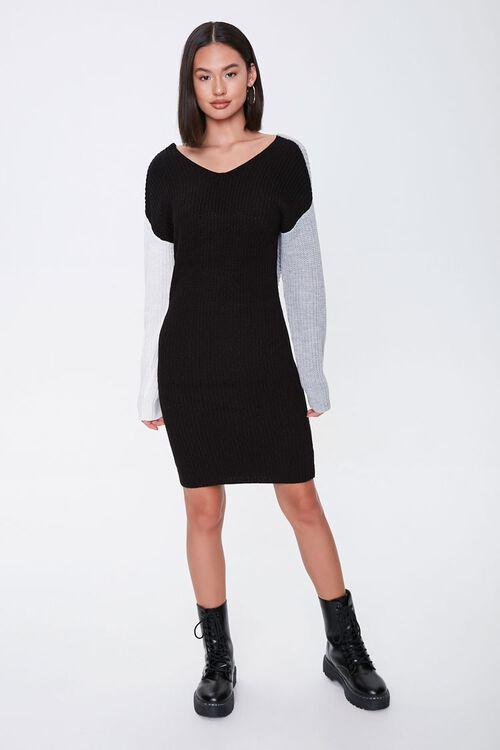 Colorblock Twist-Front Dress, image 4
