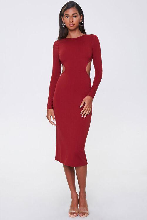 Open-Back Bodycon Midi Dress, image 4