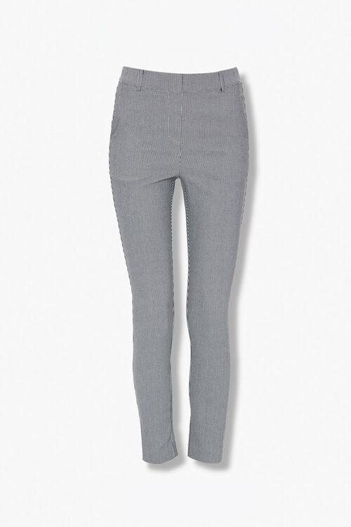 BLACK/CREAM Glen Plaid Ankle Pants, image 1