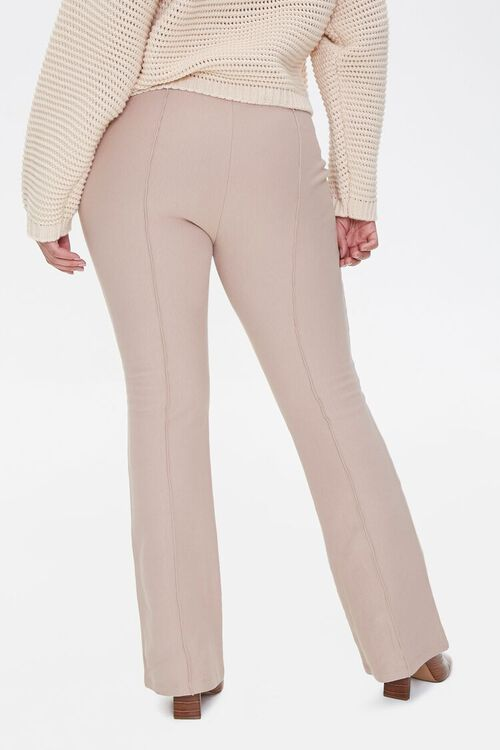 Plus Size Seamed Flare Pants, image 4