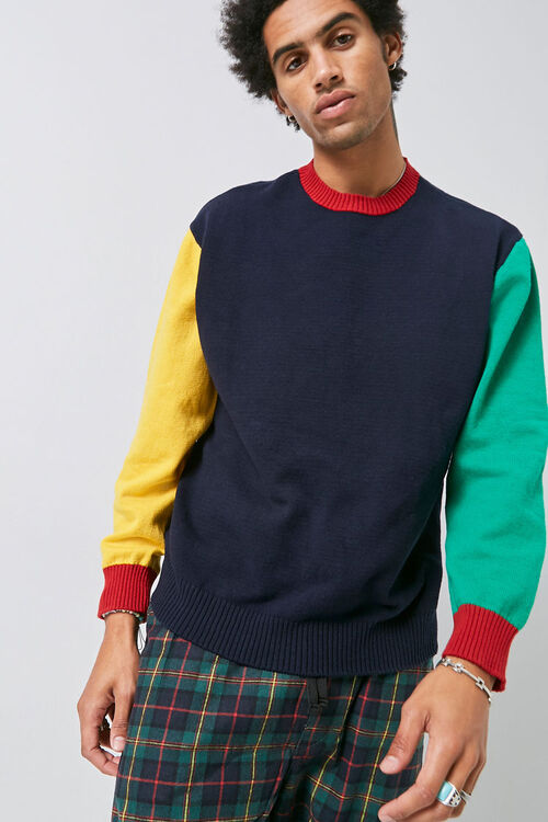 Colorblock Ribbed Sweater, image 5