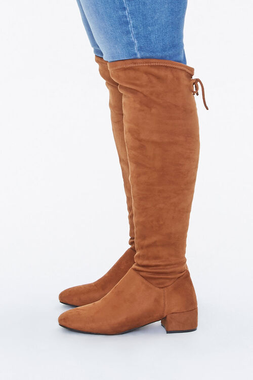 Faux Suede Knee Boots (Wide), image 2