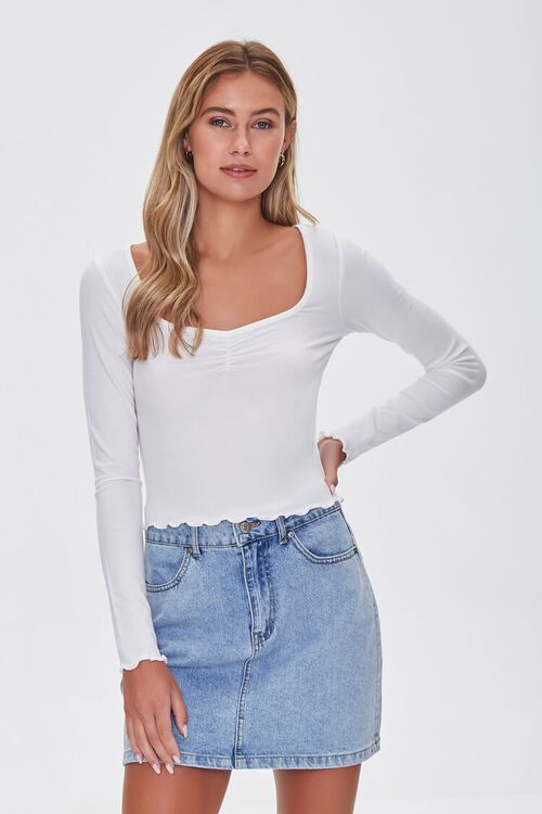Lettuce-Edge Ribbed Top, image 1