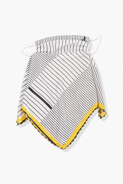 YELLOW/MULTI Striped Scarf Face Mask, image 2