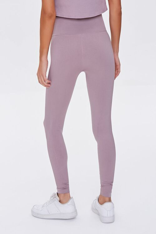 DUSTY LAVENDER Active Seamless High-Rise Leggings, image 4