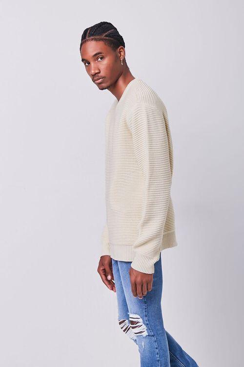 CREAM Ribbed Crew Neck Sweater, image 2