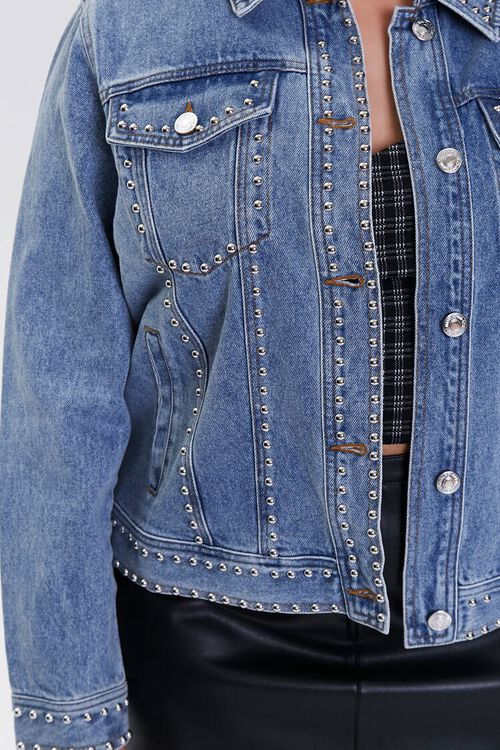 Plus Size Studded Denim Jacket, image 5