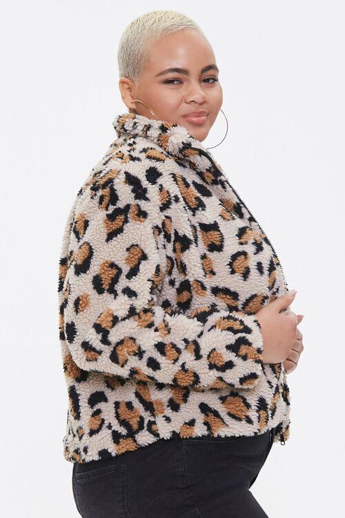 Plus Size Leopard Print Jacket, image 2