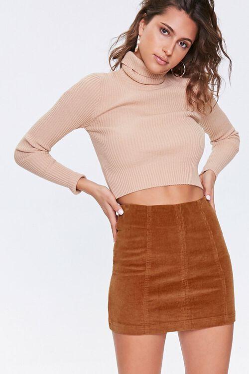 Corduroy Mini Skirt, image 1