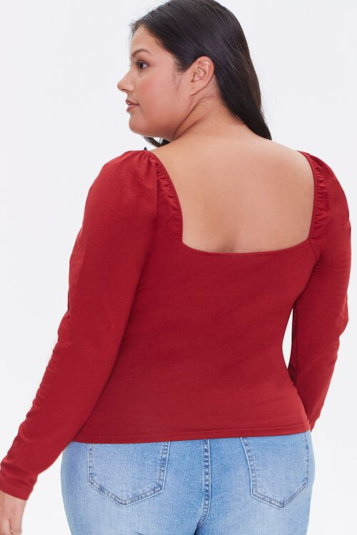 Plus Size Lace-Up Top, image 3