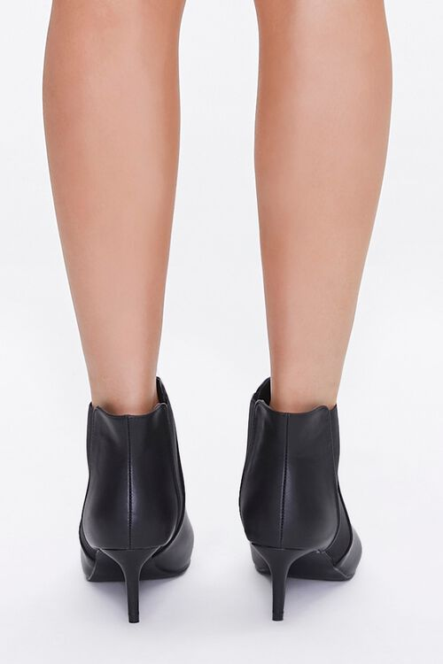 Faux Leather Stiletto Chelsea Boots, image 3