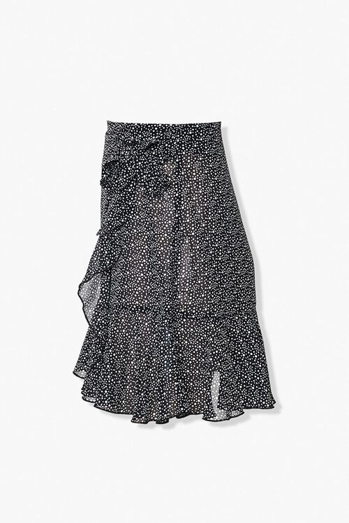 Dotted Ruffle-Trim Skirt, image 2