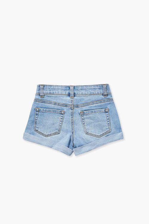 Girls Cuffed Denim Shorts (Kids), image 2