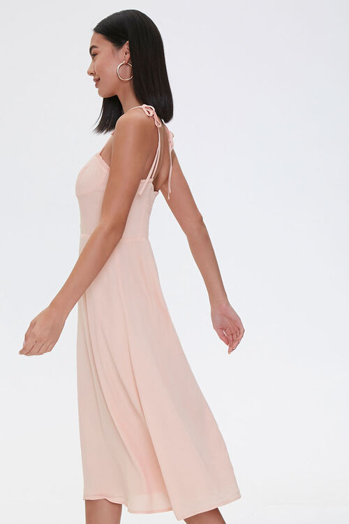 PEACH Tie-Strap Sweetheart Dress, image 2