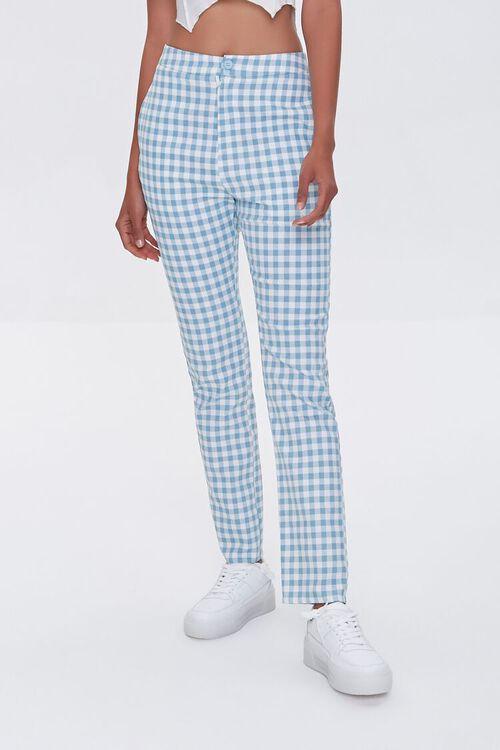 Gingham Straight-Leg Pants, image 2
