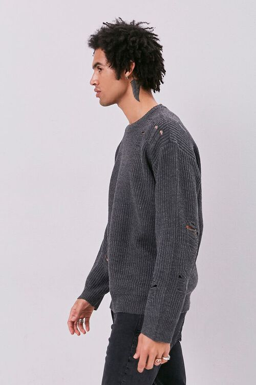 Distress Ribbed Knit Sweater, image 3