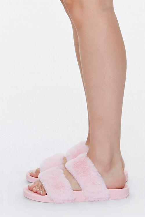 Faux Fur Dual-Vamp Slippers, image 2