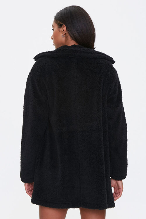 Faux Shearling Open Front Coat, image 3