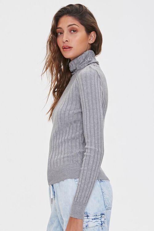 HEATHER GREY Ribbed Turtleneck Sweater, image 3