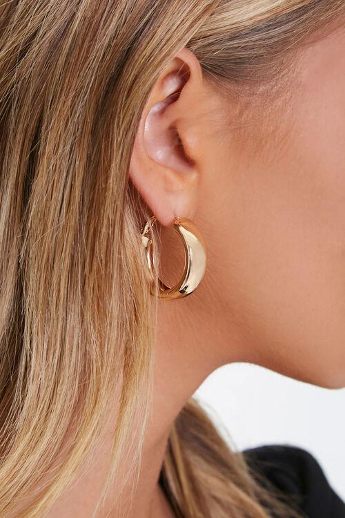 Thick Hoop Earrings, image 1