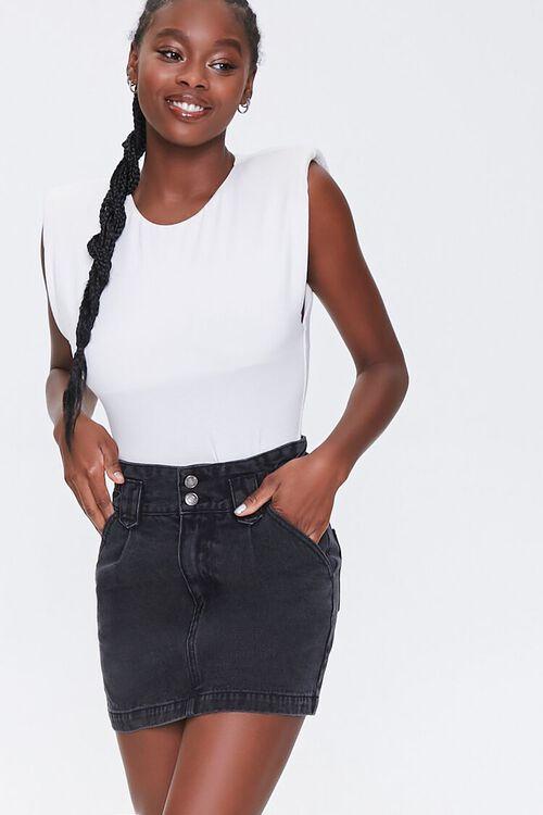 Denim Mini Skirt, image 1