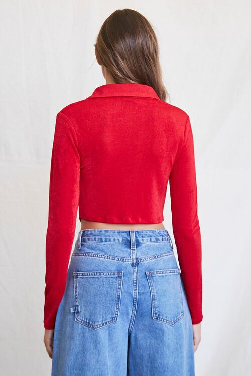 RED Cropped Knit Shirt, image 3