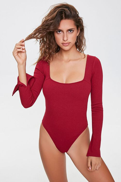 Ribbed Vented-Sleeve Bodysuit, image 4