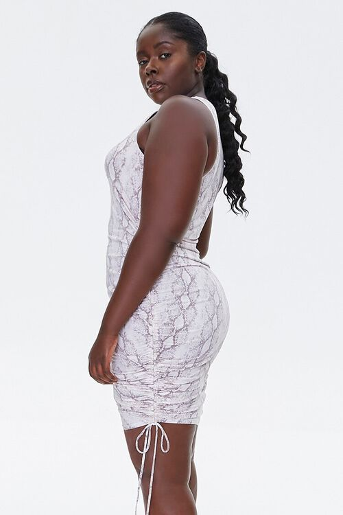 Plus Size Snake Print Dress, image 2