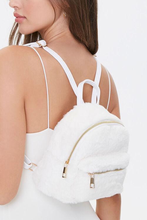 Faux Fur Mini Backpack, image 1