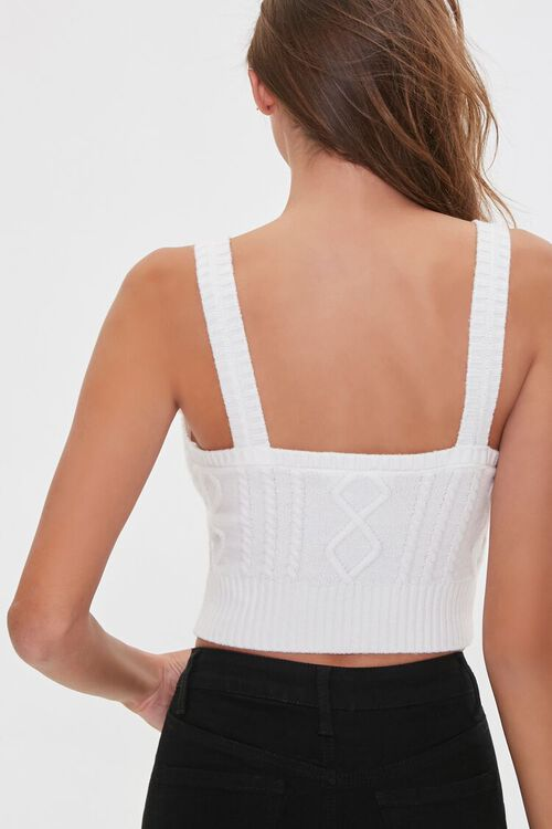 IVORY Sweater-Knit Crop Top, image 3