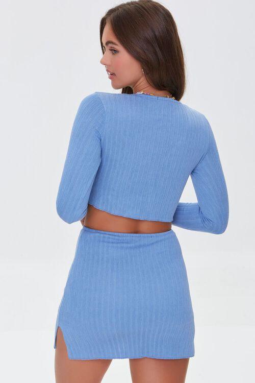 Ribbed Crop Top & Mini Skirt Set, image 3