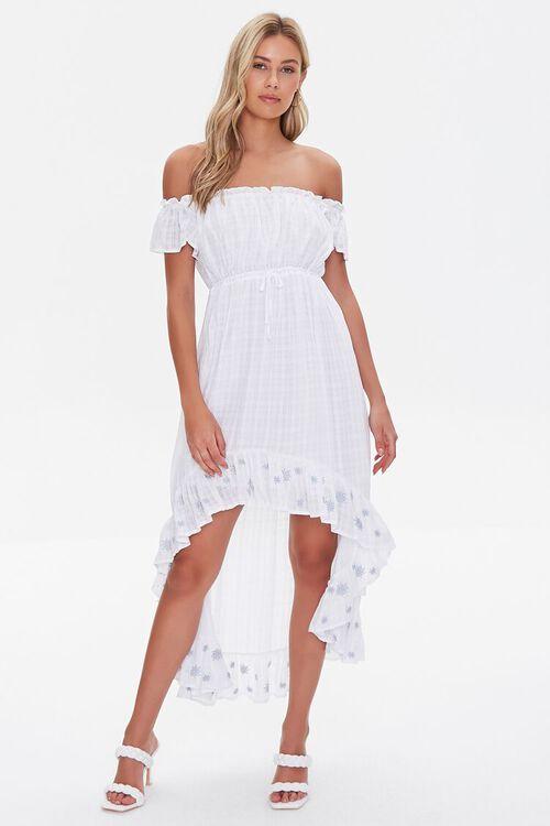 Embroidered Off-the-Shoulder Dress, image 4