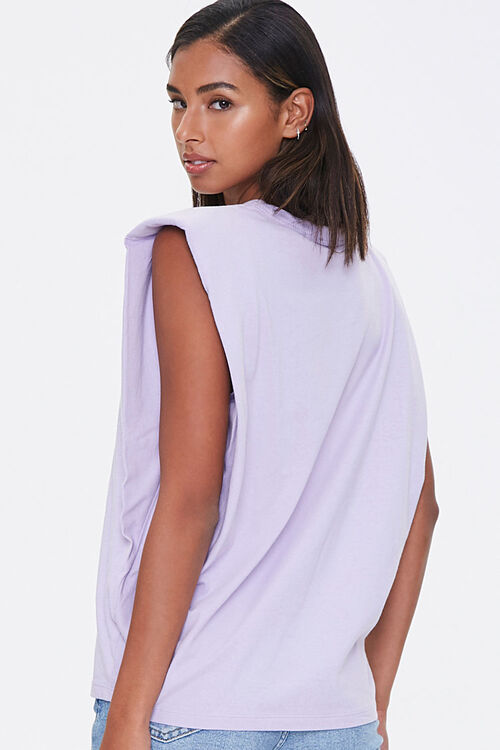 Cotton Shoulder-Pad Muscle Tee, image 3