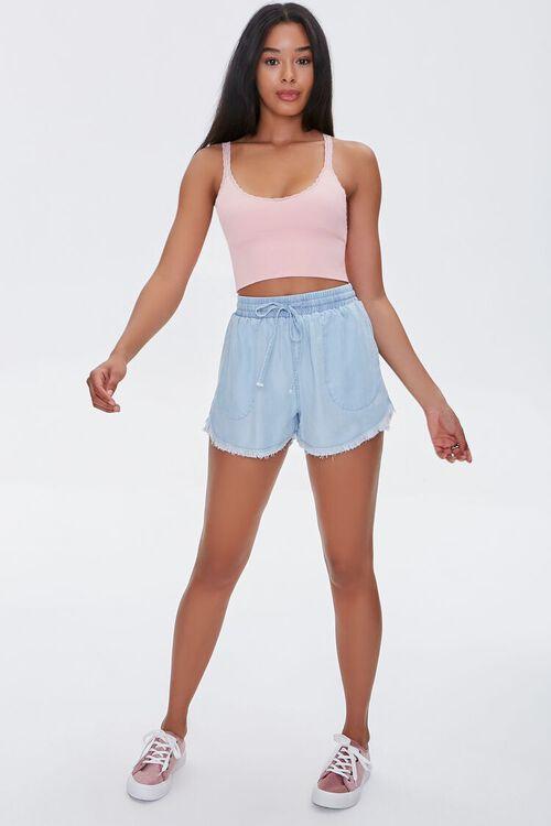 Frayed Chambray Shorts, image 5