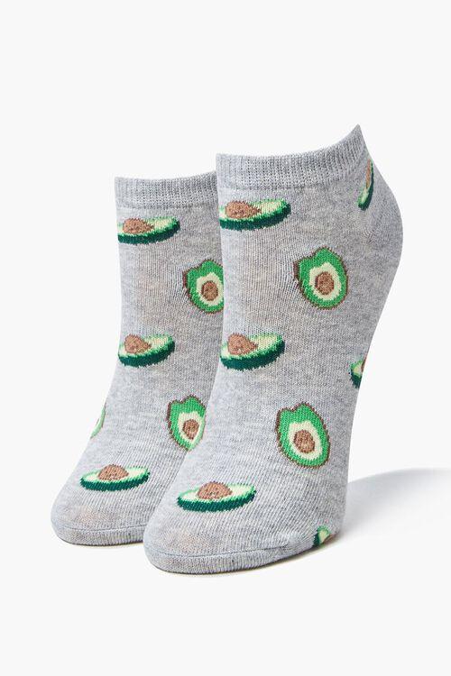 Avocado Print Ankle Socks, image 1