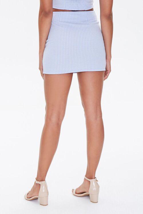 BLUE/WHITE Gingham Mini Skirt, image 4