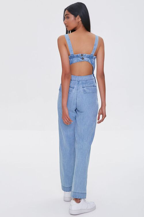 Chambray Cargo Overall Jumpsuit, image 3
