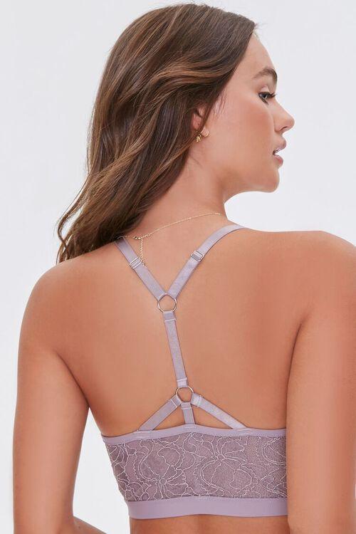 MINK Floral Lace Hook-Front Bralette, image 3