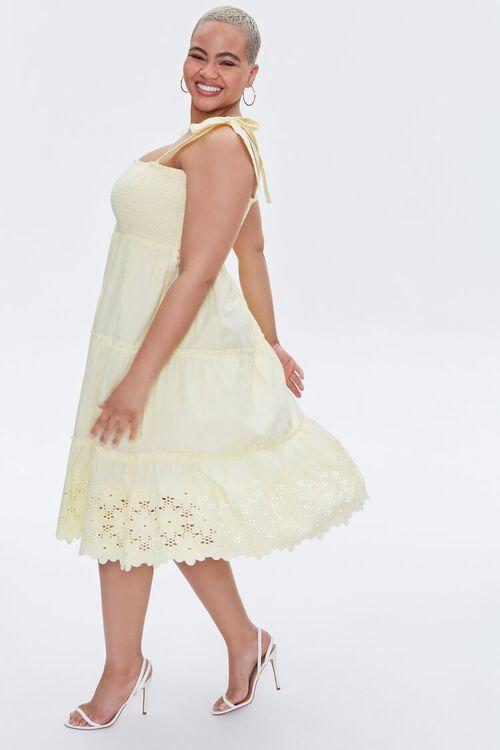 Plus Size Smocked Tie-Strap Dress, image 3