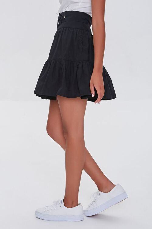 Tiered Buckled Mini Skirt, image 3