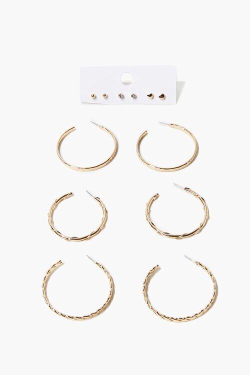 Twisted Hoop & Stud Earring Set, image 1
