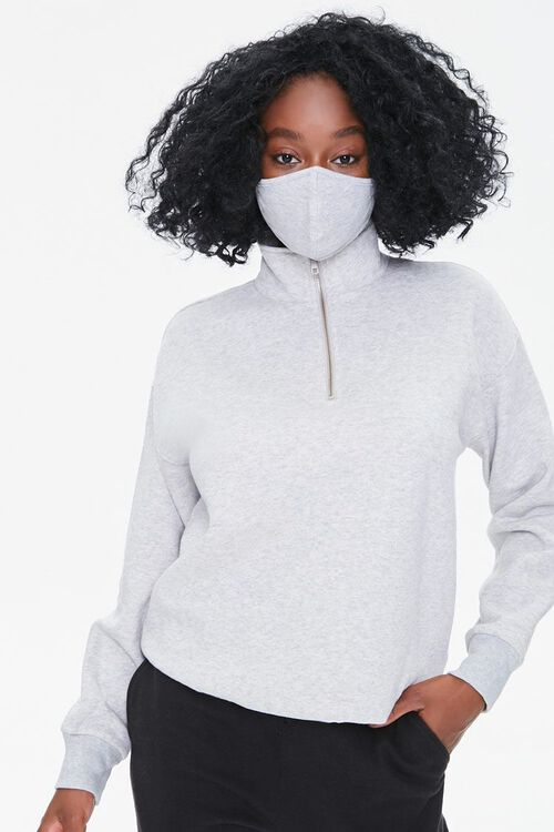 Half-Zip Pullover & Face Mask Set, image 1