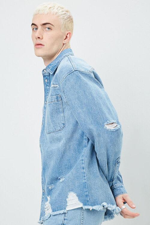 Distressed Denim Shirt, image 2