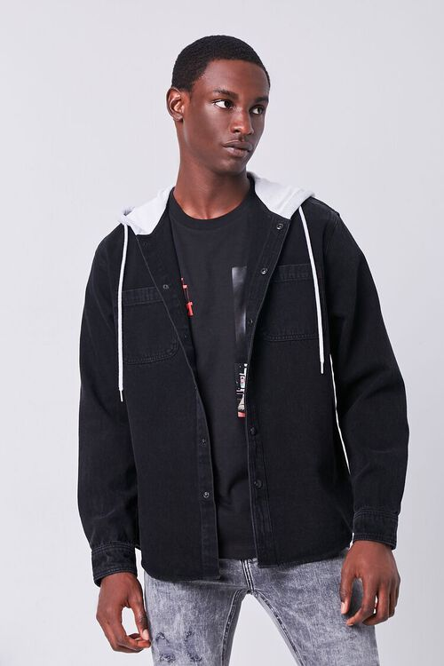 Hooded Denim Jacket, image 1