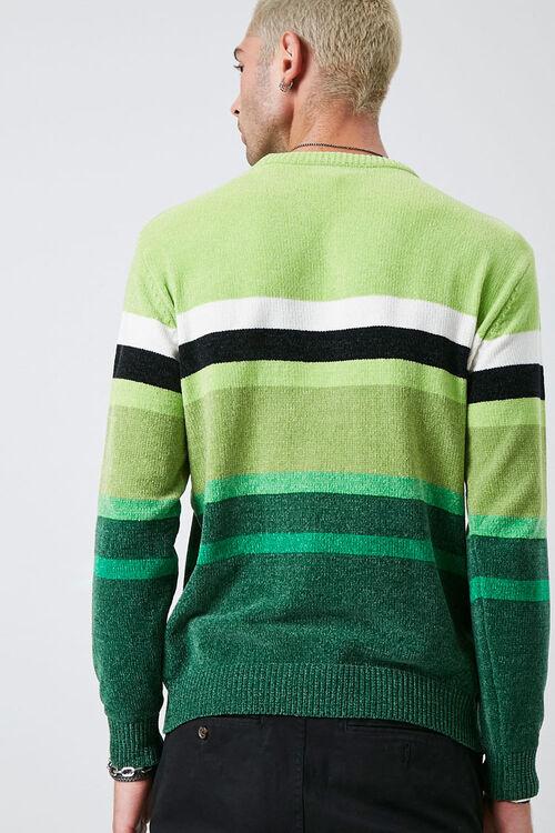 Chenille Striped Crew Neck Sweater, image 3