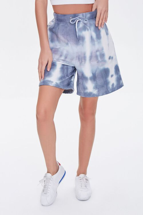 GREY/CREAM Bleached Drawstring Shorts, image 2