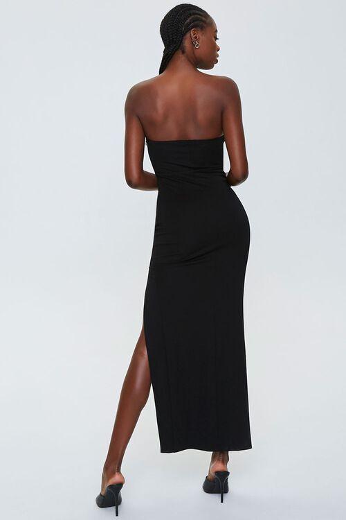 Strapless Slit Maxi Dress, image 3