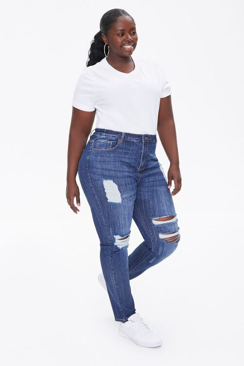 Plus Size Basic Tee Bodysuit, image 4