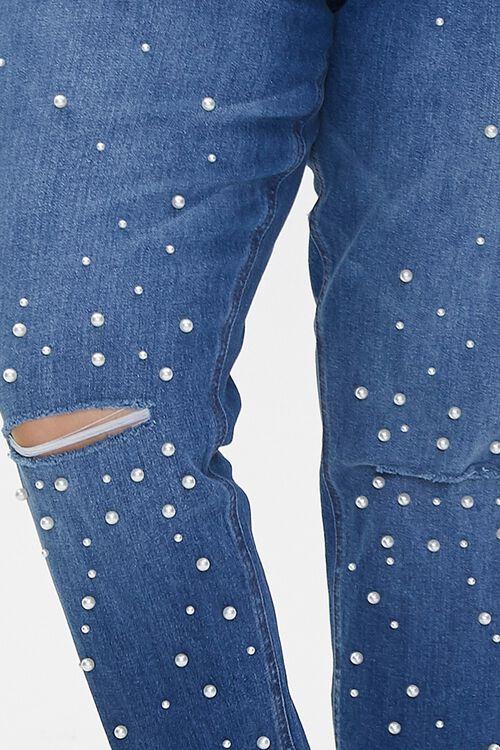 Plus Size Faux Pearl Jeans, image 5